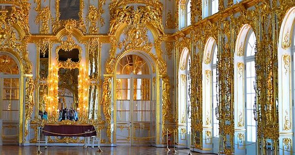 Catherine's Palace in Tzarskoe Selo Russia
